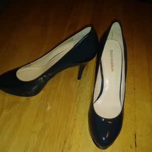 Enzo Angiolini Pumps Navy Patent Leather